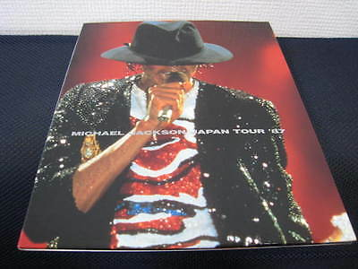 """Michael Jackson Japan Hard Cover Book Called """"Japan Tour '87"""" in 1987"""