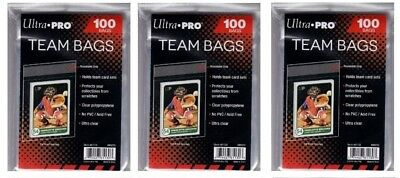 Ultra Pro Resealable Team Bag 100 count 3 pkg lot ( 300 Bags )