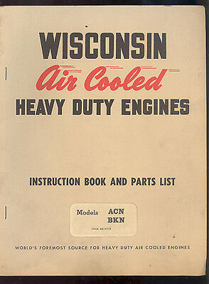 "WISCONSIN ENGINES BKN /& ACN AD 9/"" x 12/"" ALUMINUM Sign"