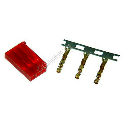 4 x Futaba - RED Male / Battery Connectors