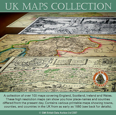 UK Maps Collection - Old & Historic Maps (Family History/Genealogy)