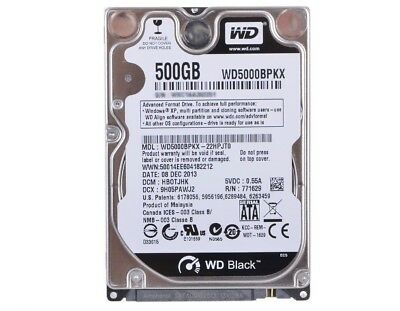 "WD Scorpio Black 500GB SATA-6Gb 7200rpm 16Mb 2.5"" WD5000BPKX 5 Year"