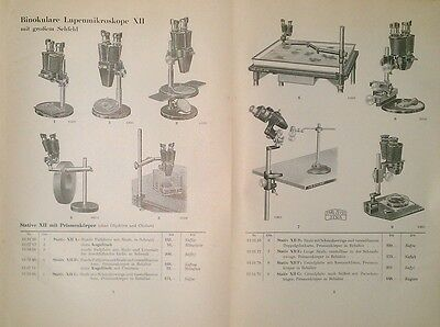 Original old german Book CARL ZEISS Products and Accessories /C1934