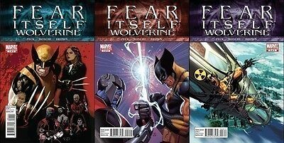 complete set (3) WOLVERINE FEAR ITSELF #1 2 3 of 3 1st print MARVEL SETH PECK