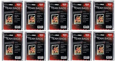 Ultra Pro Resealable Team Bag 100 count 10 pkg lot ( 1,000 Bags )