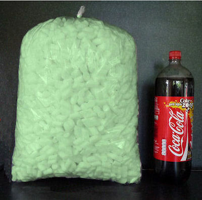 Flo-Pak Polystyrene Packing Peanuts Void Fill Protective Green Protect - 1 cu ft