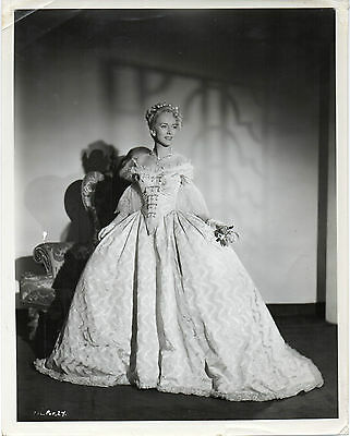 SHADOW OF THE EAGLE 1950 Valentina Cortese VENICE Gown Fashion PORTRAIT #27
