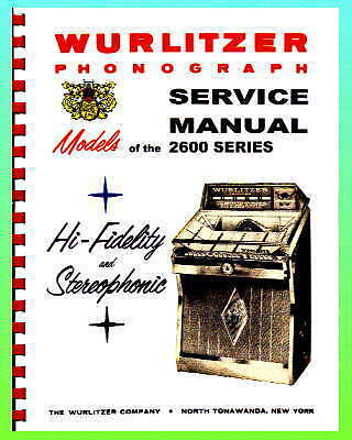 Wurlitzer 2600 Jukebox Service Manual