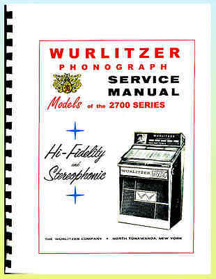 Wurlitzer 2700 Series Jukebox Manual