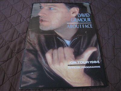 David Gilmour About Face UK Tour Book in 1984 Concert Program Pink Floyd