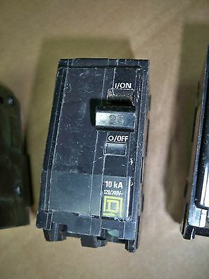 Square D QO225 2pole 25amp 240v snap on circuit breaker warranty!