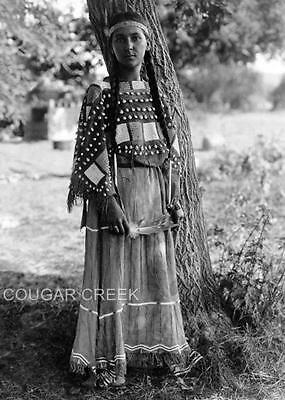 8x10 1905 SIOUX INDIAN MAIDEN EDWARD S. CURTIS NATIVE AMERICAN PHOTO