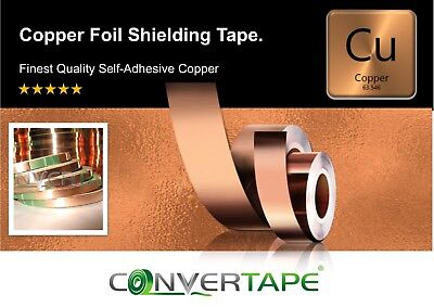 Tape Repellent Guitar Pickup Adhesive Conductive EMI Copper Slug Snail 6mm x 3m