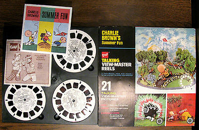 VINTAGE GAF TALKING VIEW-MASTER REELS Charlie Brown's Summer Fun AVB 548