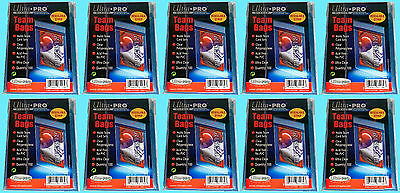 1000 Ultra Pro TEAM SET BAGS Resealable Strip 10 Packs Sports Baseball Sleeves