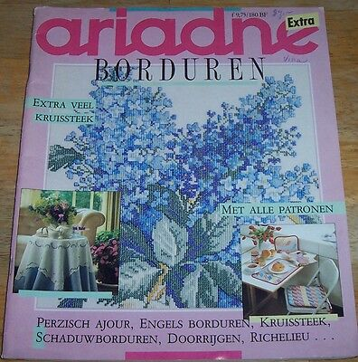 Dutch/Danish Ariadne Borduren Needlework Magazine - 1987