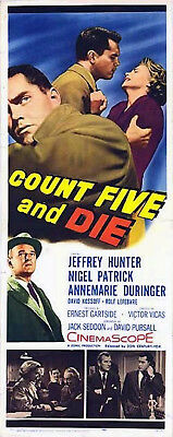 COUNT FIVE AND DIE 1957 Nigel Patrick Jeffrey Hunter US INSERT POSTER