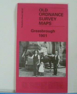 Old Ordnance Survey Maps Greasbrough Yorkshire 1901 Godfrey Edition New