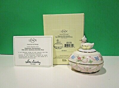 LENOX 2011 Annual DUCKLING EASTER EGG New in Box w/COA