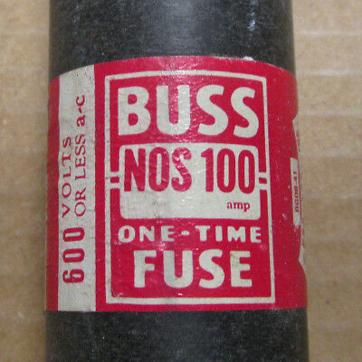 Buss One Time 100 Amp Fuse 600 Volts Catalog # NOS 100