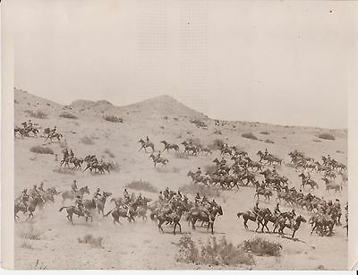 June 12th, 1916 - US Troops on Horseback Along Mexican Border - Orig. News Photo