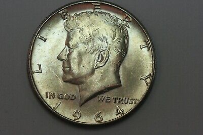 End of Roll Toned Reverse 1964-P Kennedy Half Dollar 90% Silver Coin - MS KHX352
