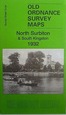 Old Ordnance Survey Maps North Surbiton & South Kingston Surrey 1932 S 12.04 New