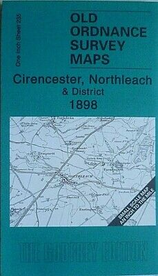 Old Ordnance Survey Map Cirencester Little Faringdon Northleach 1898 S235 New