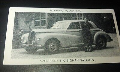 1953 WOLSELEY 6/80  Saloon Orig Cereal Trading Card