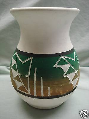 NATIVE AMERICAN SIOUX LITTLE THUNDER Vase ~ Signed