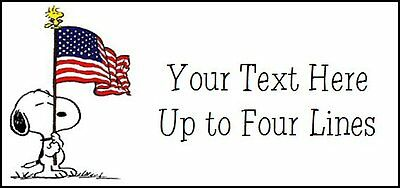 ~SNOOPY with USA FLAG~   Lazer Address Labels.  Cute!