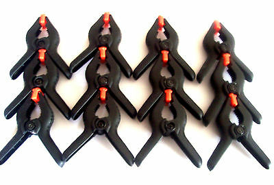 """6 CRAFTSMAN 4-3//4/"""" NYLON SPRING CLAMPS CLIPS 2/"""" JAW CAPACITY FLEX PADS 931491"""