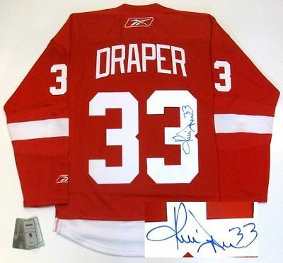 30d53320f ... promo code for kris draper signed detroit red wings jersey real rbk  5eab8 da149