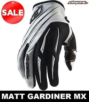 O'NEAL ELEMENT MOTOCROSS GLOVES WHITE mx enduro mtb bmx NEW