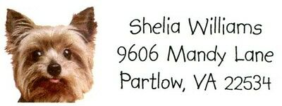 Yorkie Dog face puppy pets Address Labels