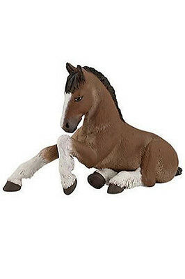 Papo Shire Foal Horse Equestrian Toy Figure Pretend Play Barn Stable 51110 NEW