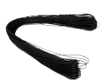 10 Metre's Black Waxed Cotton Cord  String 1mm Jewellery Craft Thread G137