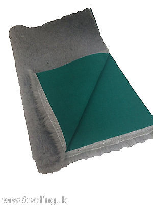 Grey Green back Vet Dog Bed Fleece Bedding ideal for puppies whelping dog