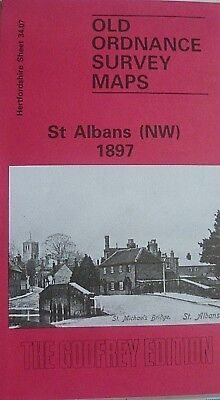 Old Oldnance Survey Map Historic town St Albans (NW) Hertfordshire 1897 S34.07