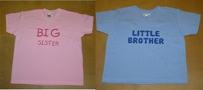 Kids Personalised Big Brother/Little Brother or Big Sister/Little Sister T-Shirt