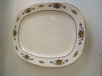 Vintage Carrollton China Platter pottery china white with floral VGC