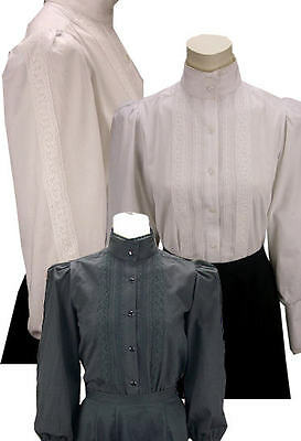 FRONTIER CLASSICS Victorian White or Black Lace Grace  Blouse Steam punk Dickens