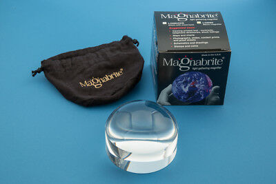 """TWO-2.5"""" Handheld Magnabrite Light Gathering Dome Magnifiers"""
