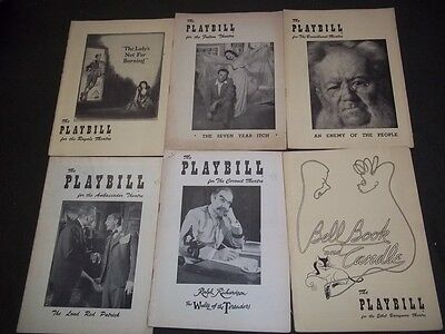 1950's Playbill Lot Of 16 Different - Great Titles & Nice Ads - O 1969