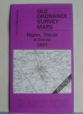 Old Ordnance Survey Maps Ripon Thirsk Otterington Coxwold Topcliffe 1891
