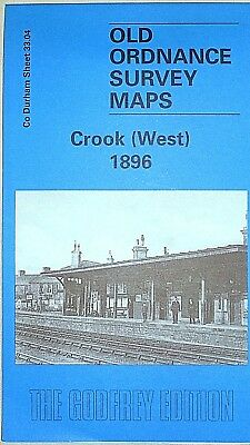 Old Ordnance Survey Maps Historic Town Crook (West) nr Durham 1896 Sheet 33.04