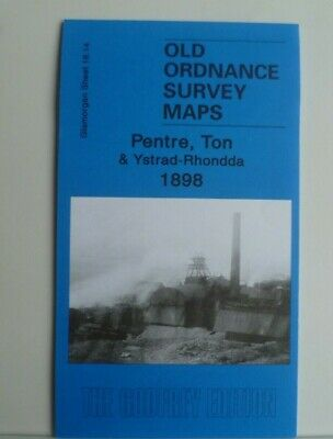 Old Ordnance Survey Map Pentre Ton & Ystrad-Rhondda Glamorgan 1898 Sheet 18.14