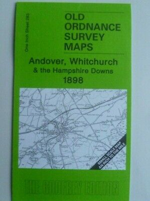 Old Ordnance Survey Map Andover Whitchurch Hampshire Downs & Weyhill 1898 S283