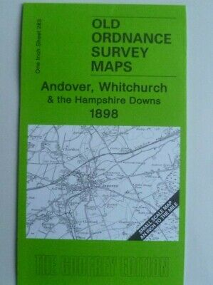 Old Ordnance Survey Maps Andover Whitchurch Hampshire Downs & Weyhill 1898 S283