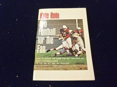 1964 PRO FOOTBALL FOR THE FAN BOOKLET - BY KYLE ROTE - ABRIDGED EDITION- II 7433